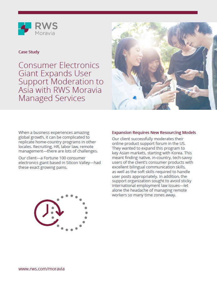 Consumer Electronics Giant Expands User Support Moderation Cover