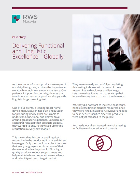 Delivering Functional and Linguistic Excellence Cover