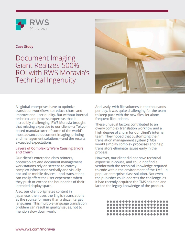 Document Imaging Giant Realizes 500 Percent ROI Cover