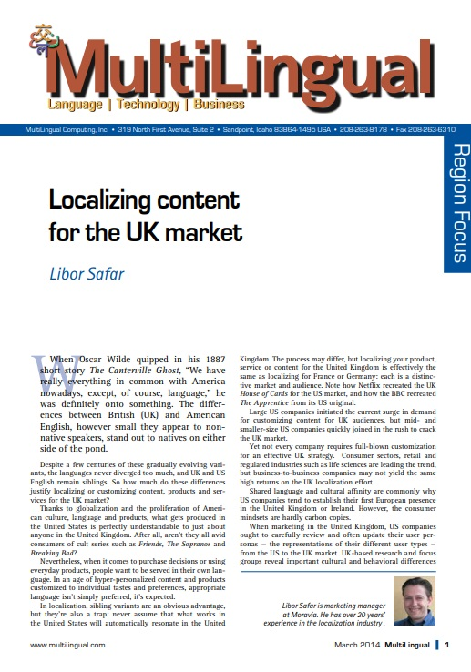 Localizing Content for the UK Market Cover
