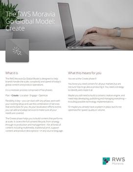 The RWS Moravia Go Global Model: Create Ebook