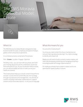 The RWS Moravia Go Global Model: Create Ebook