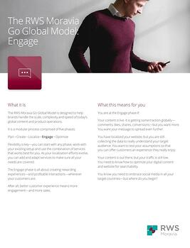 The RWS Moravia Go Global Model: Engage Ebook