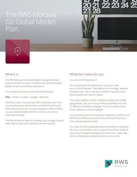 The RWS Moravia Go Global Model: Plan Ebook