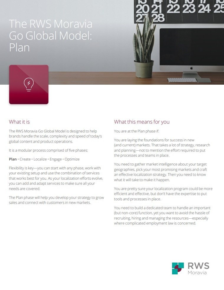 The RWS Moravia Go Global Model: Plan Ebook