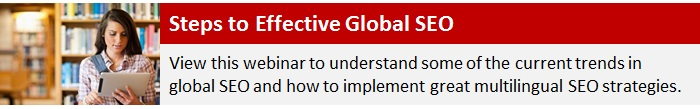 Steps to Effective Global SEO Webinar
